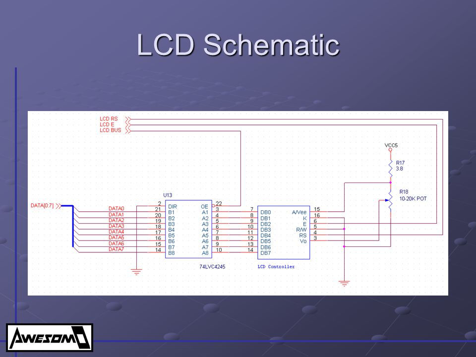 LCD Schematic