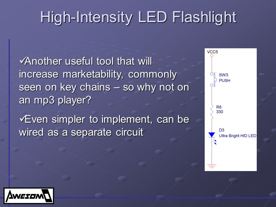 High-Intensity LED Flashlight