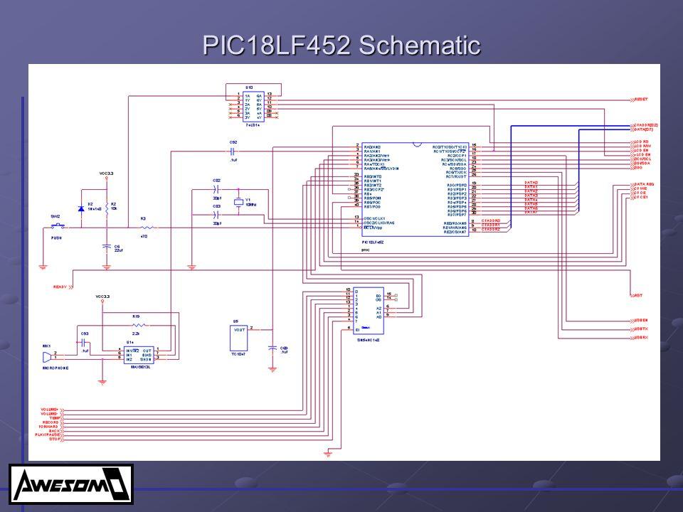 PIC18LF452 Schematic