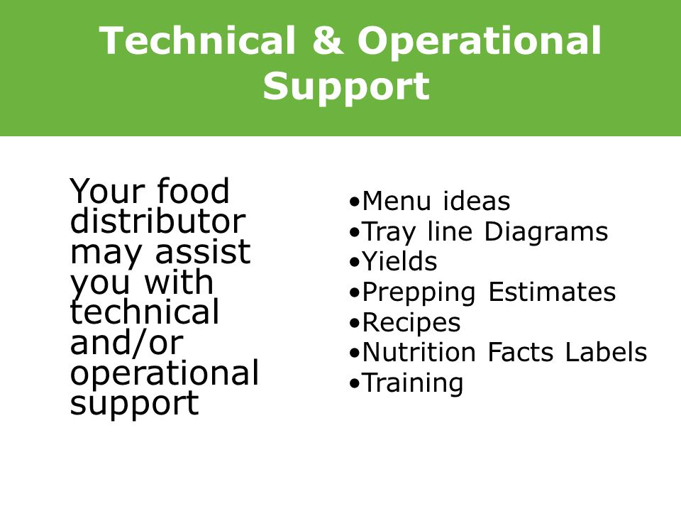 Technical & Operational Support