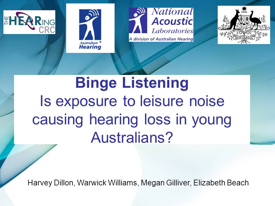 Binge Listening Is exposure to leisure noise causing hearing loss in young Australians