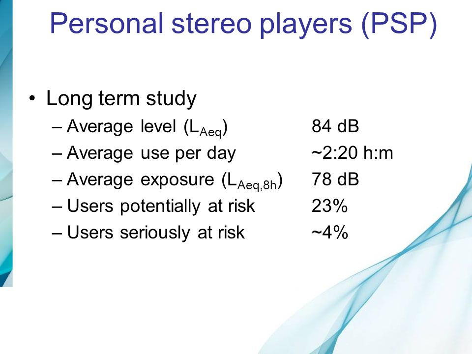 Personal stereo players (PSP)