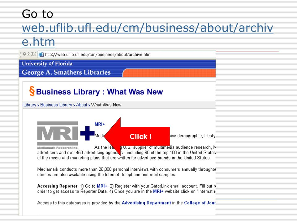 Go to web.uflib.ufl.edu/cm/business/about/archive.htm