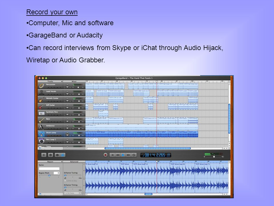 Record your own Computer, Mic and software. GarageBand or Audacity.