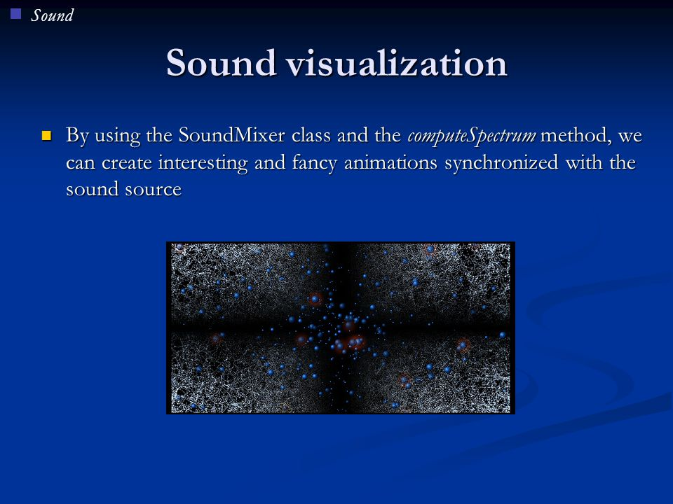 Sound Sound visualization.