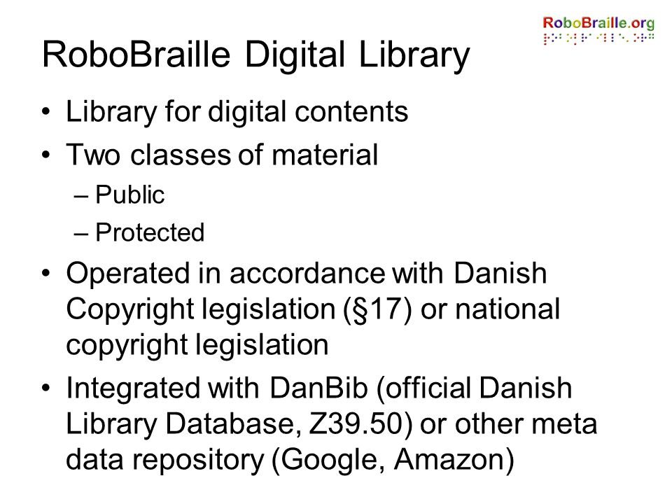 RoboBraille Digital Library