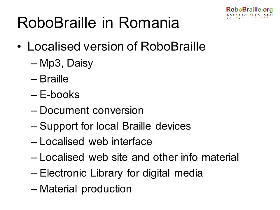 RoboBraille in Romania