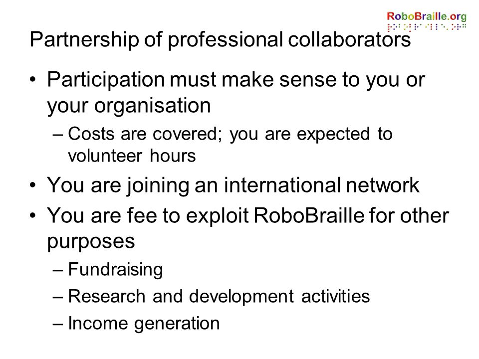 Partnership of professional collaborators