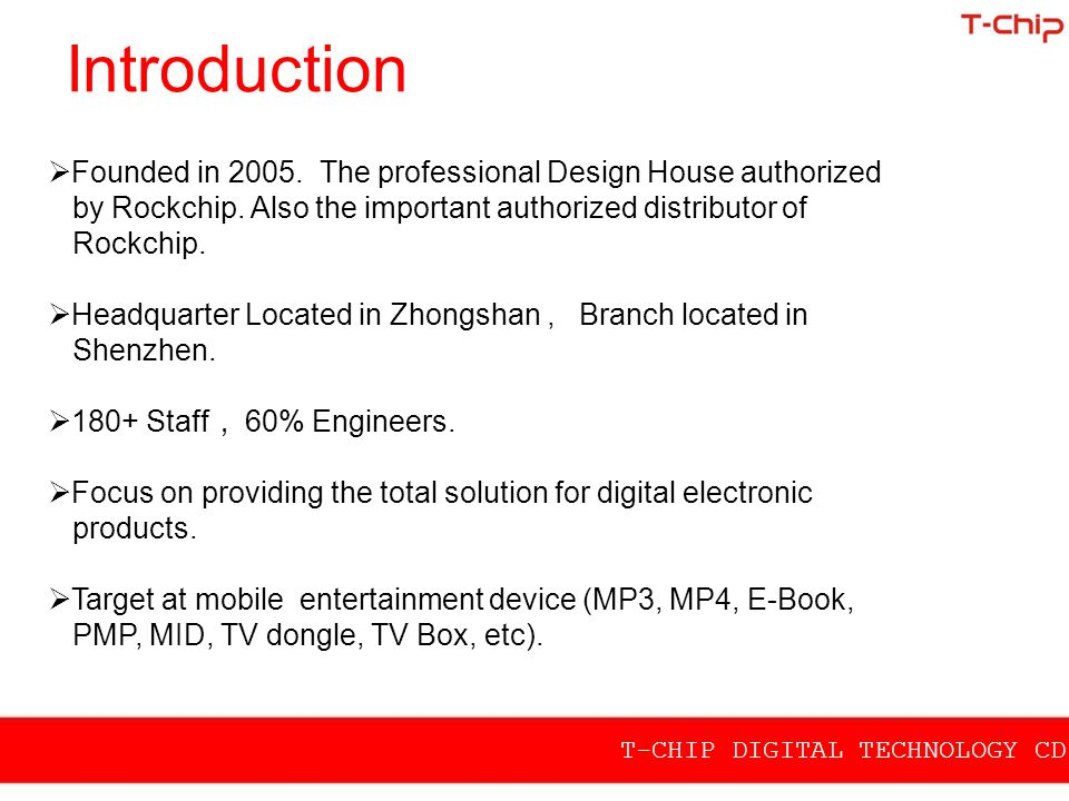 Introduction Founded in 2005. The professional Design House authorized