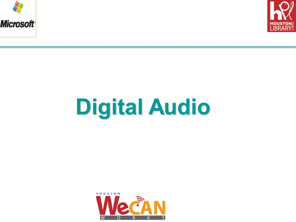 Digital Audio 1