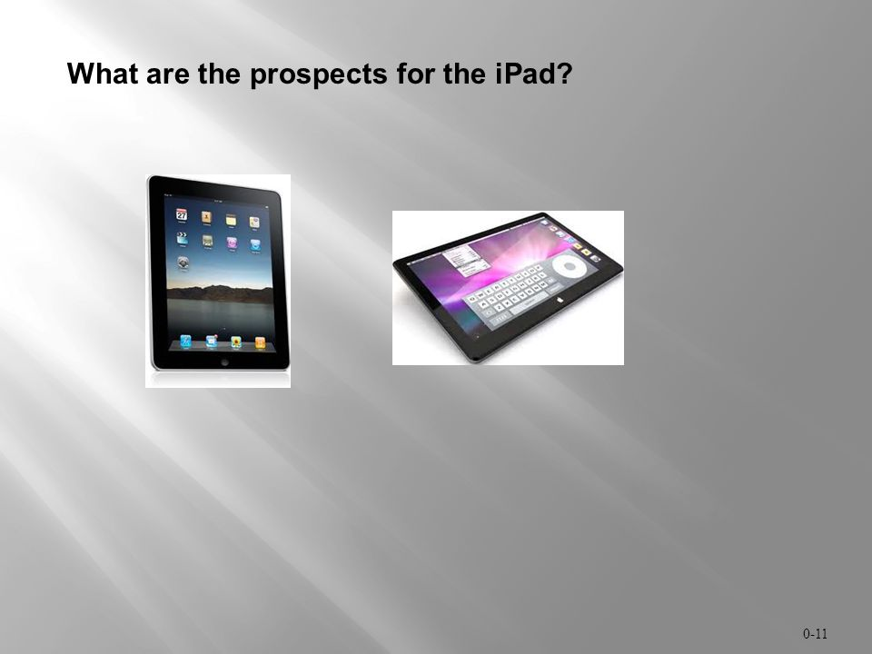What are the prospects for the iPad