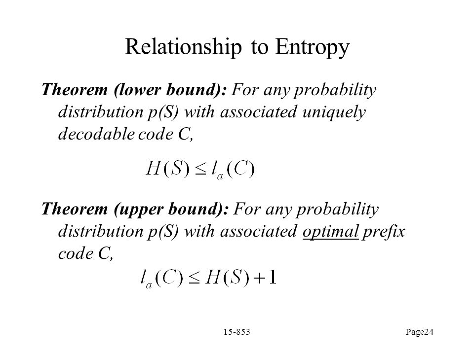 Relationship to Entropy
