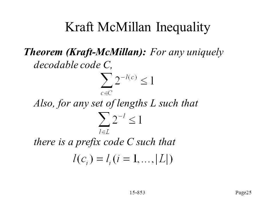 Kraft McMillan Inequality