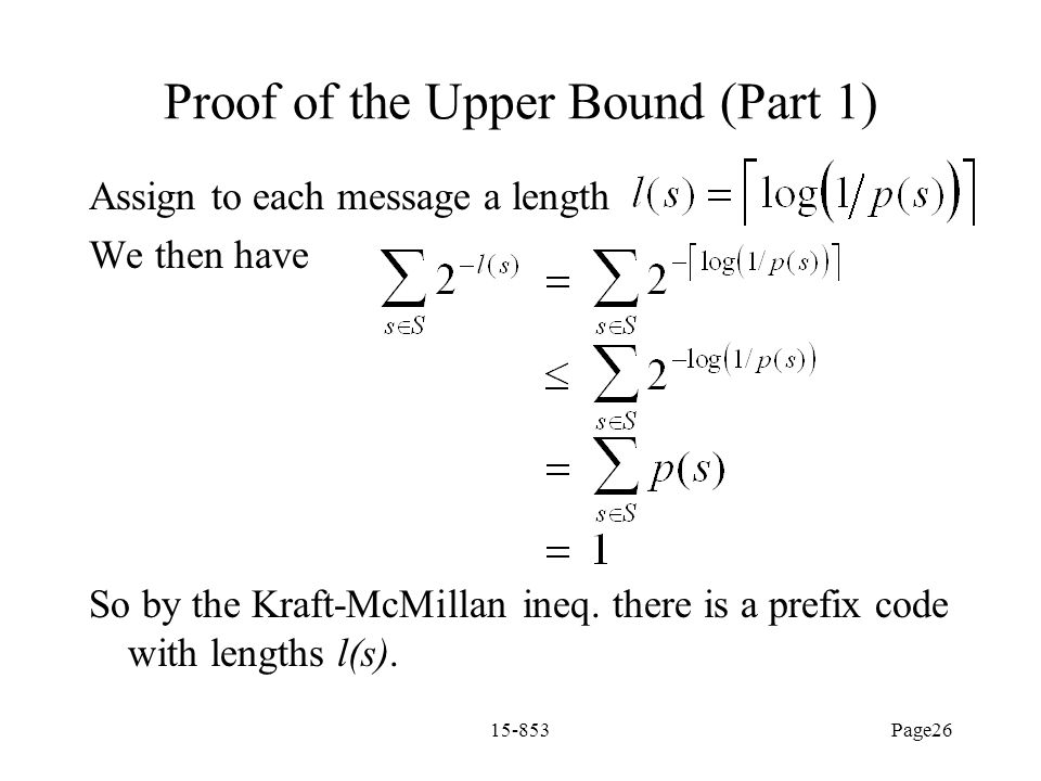 Proof of the Upper Bound (Part 1)