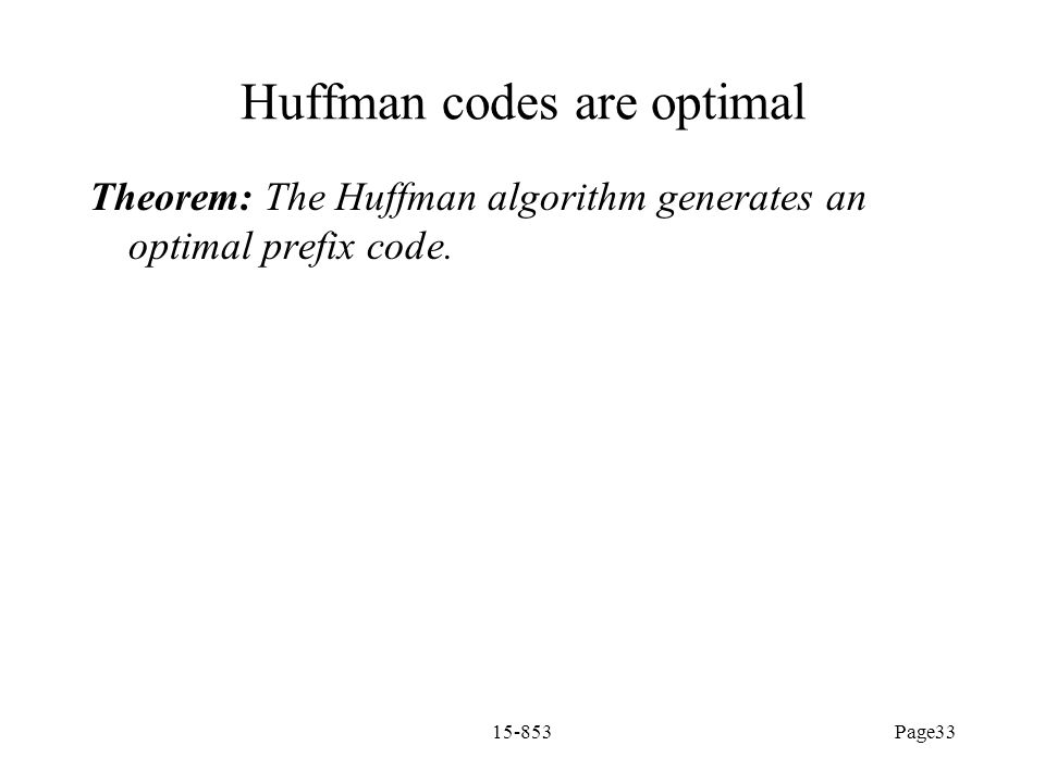 Huffman codes are optimal
