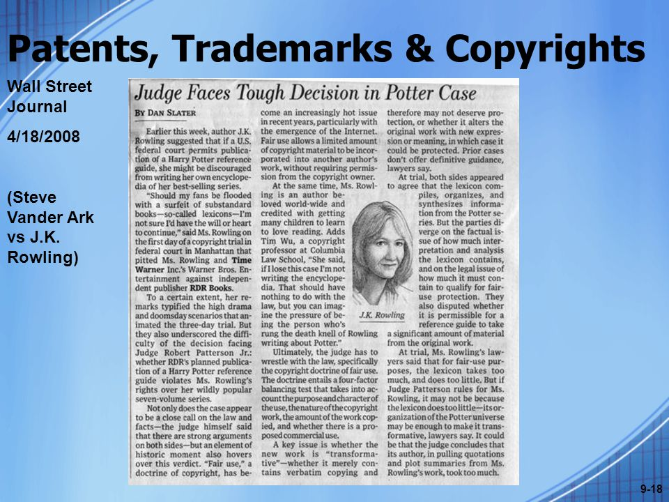 Patents, Trademarks & Copyrights