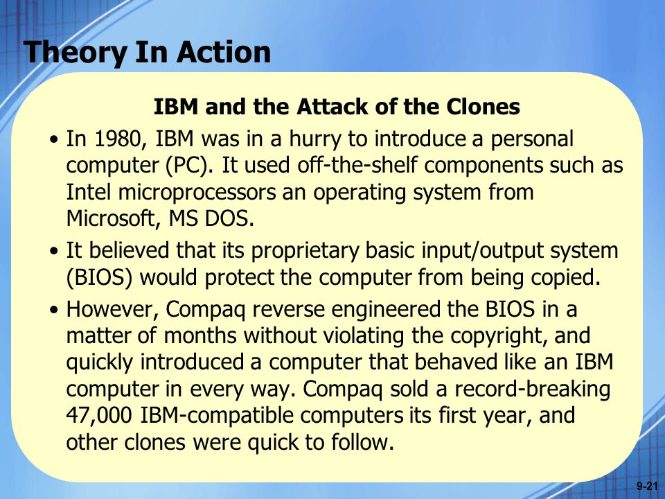 IBM and the Attack of the Clones