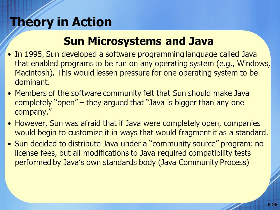 Sun Microsystems and Java