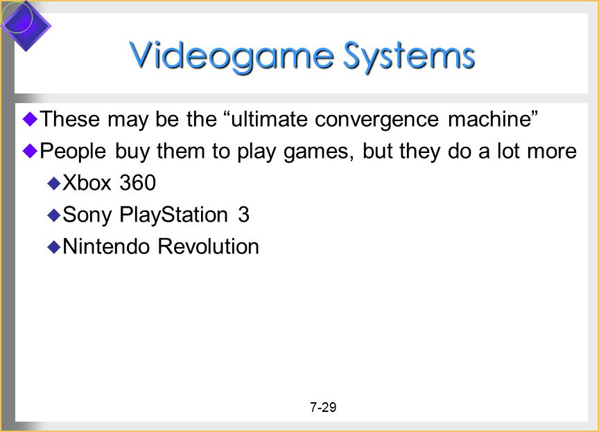 Videogame Systems These may be the ultimate convergence machine