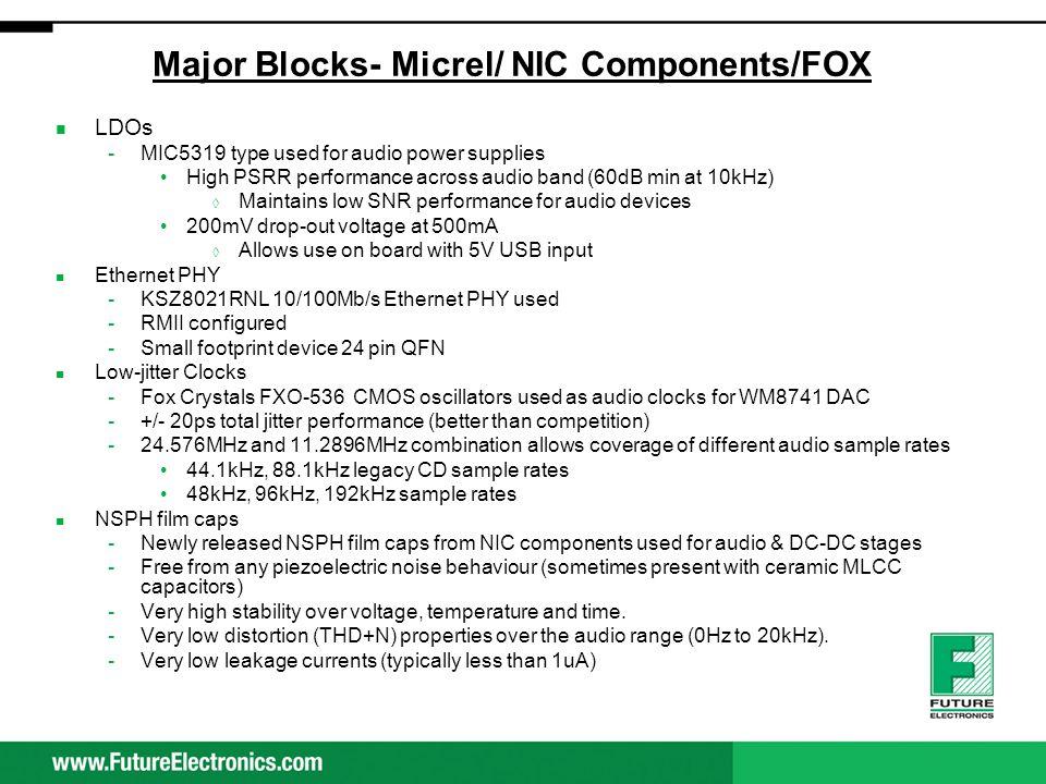 Major Blocks- Micrel/ NIC Components/FOX