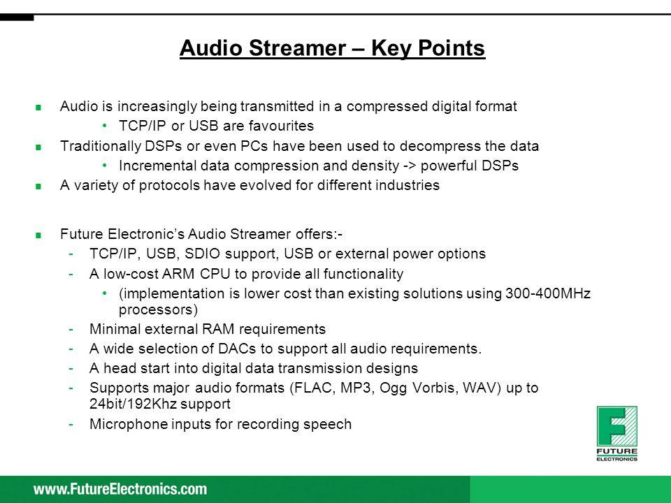 Audio Streamer – Key Points