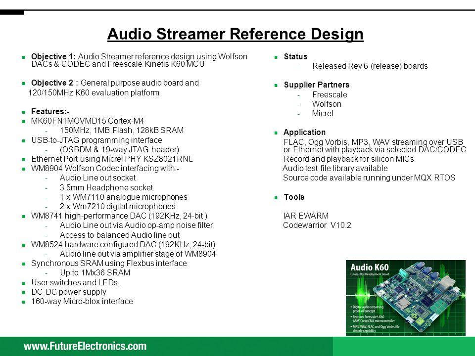 Audio Streamer Reference Design