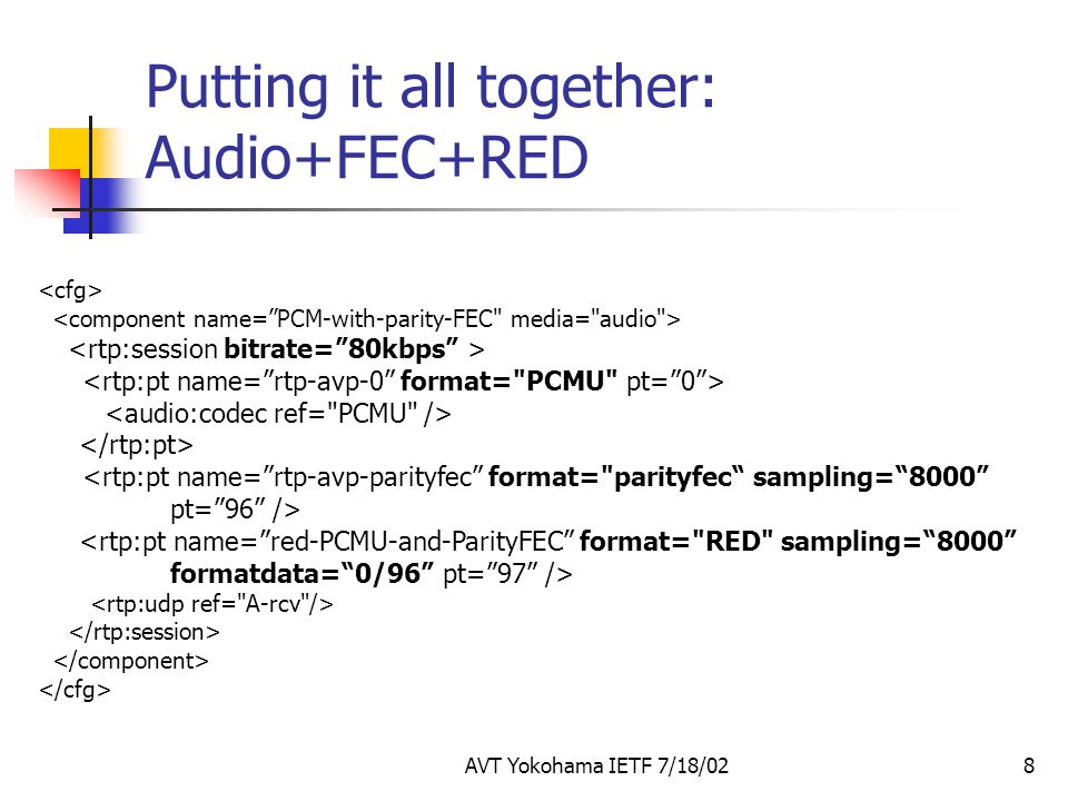 Putting it all together: Audio+FEC+RED