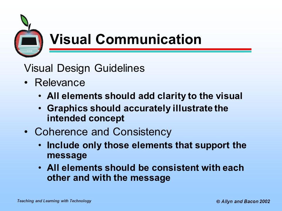 Visual Communication Visual Design Guidelines Relevance