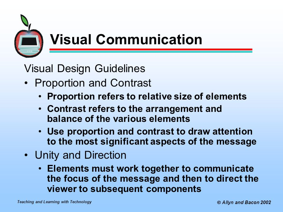 Visual Communication Visual Design Guidelines Proportion and Contrast