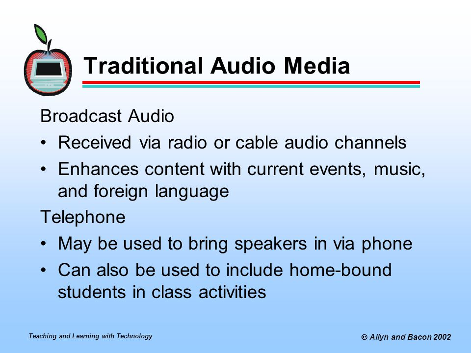 Traditional Audio Media