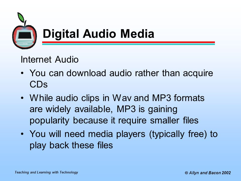 Digital Audio Media Internet Audio