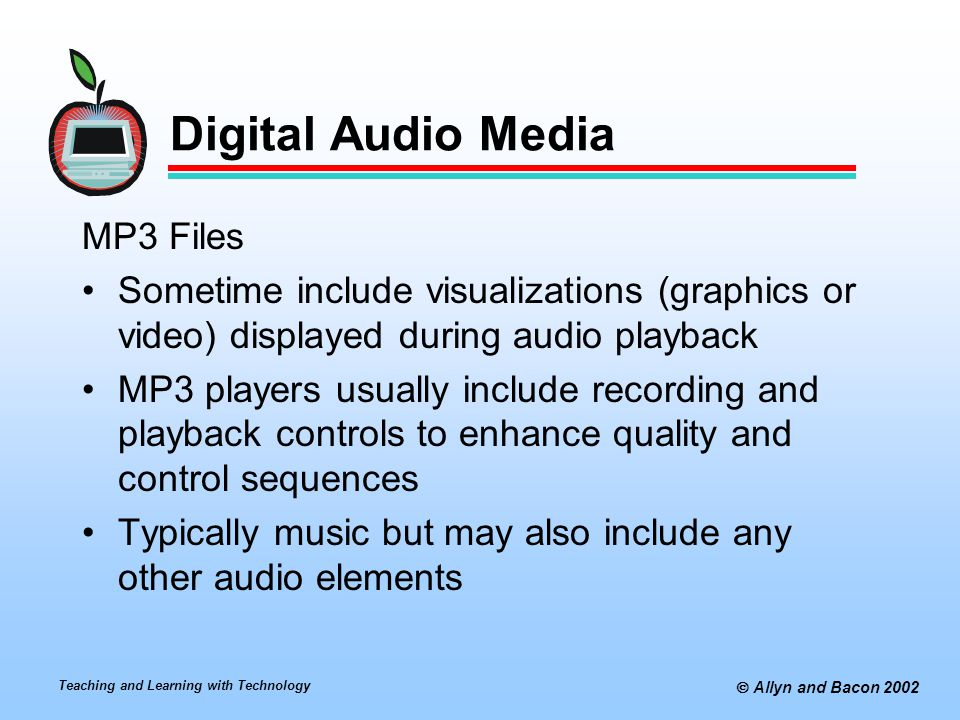 Digital Audio Media MP3 Files