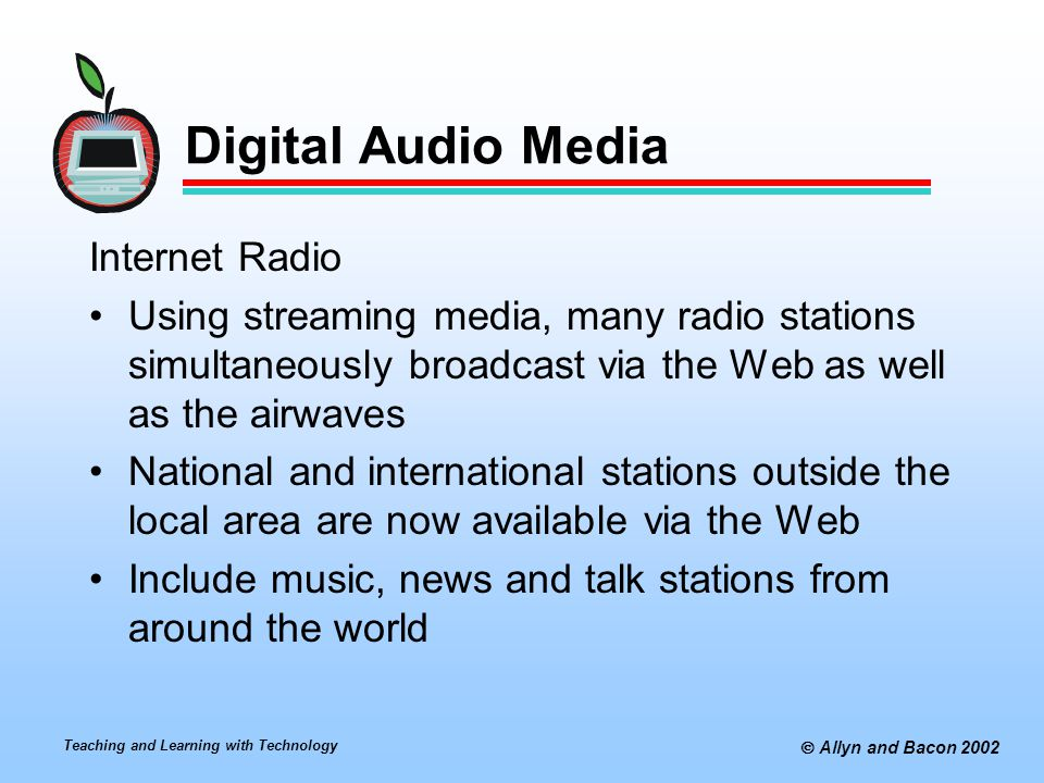 Digital Audio Media Internet Radio