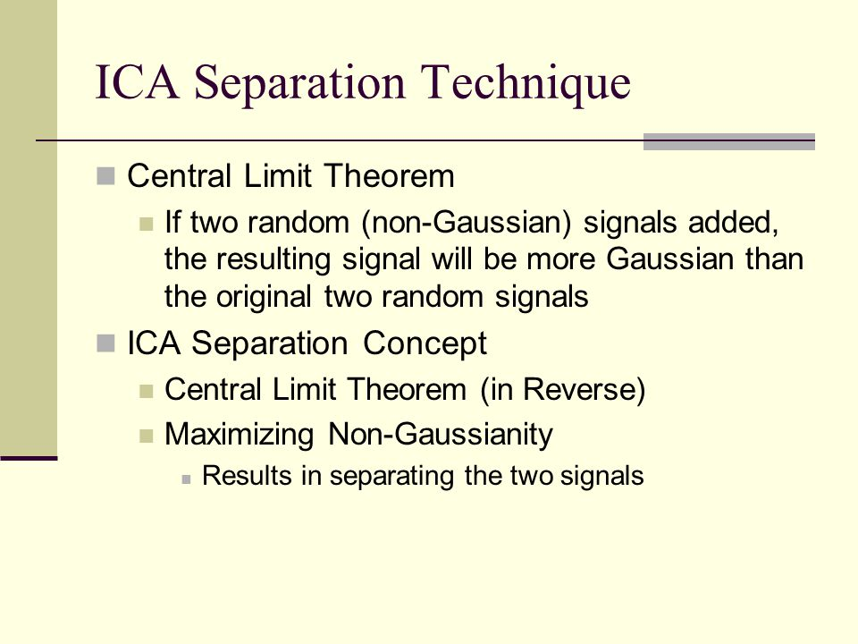 ICA Separation Technique