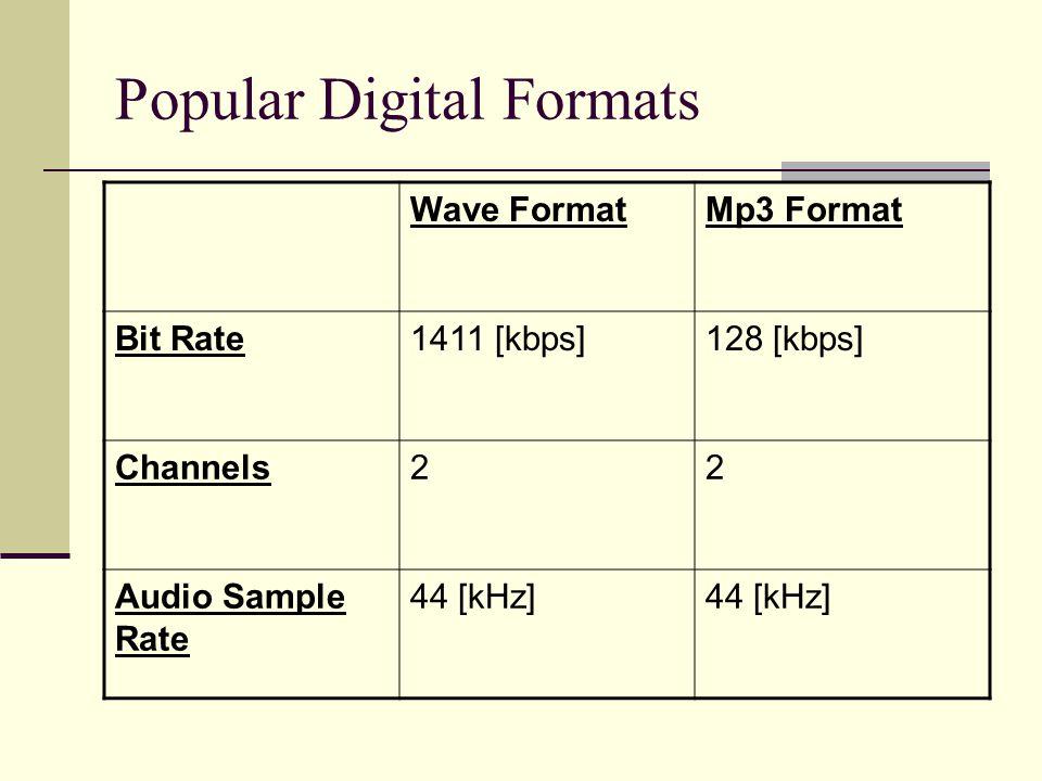 Popular Digital Formats