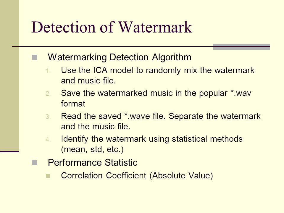 Detection of Watermark