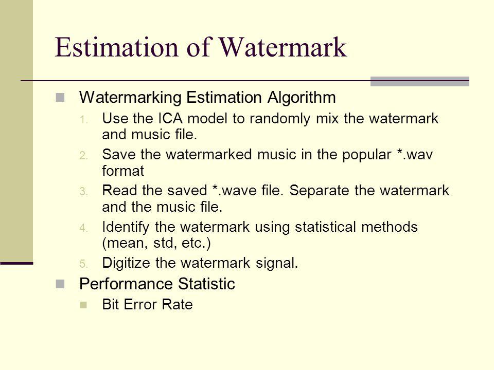 Estimation of Watermark
