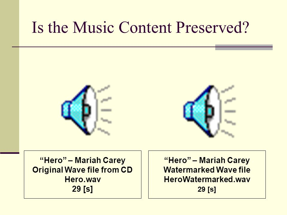 Is the Music Content Preserved