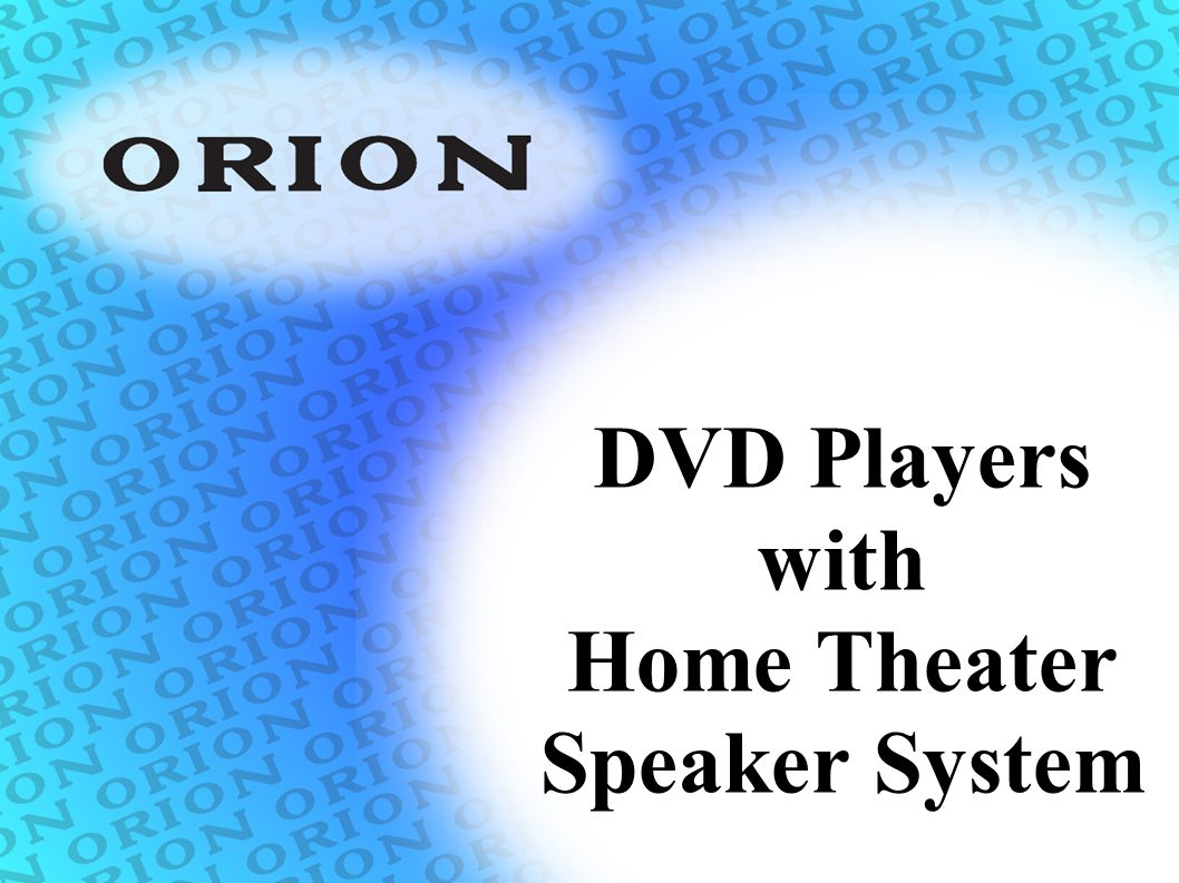 DVD Players with Home Theater Speaker System