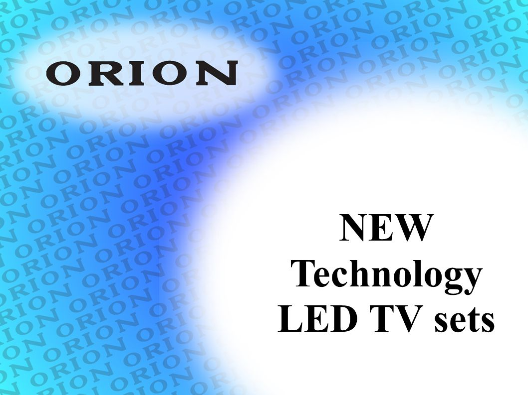 NEW Technology LED TV sets