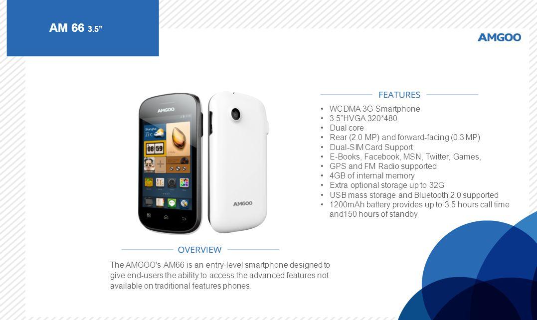 AM 66 3.5 WCDMA 3G Smartphone 3.5 HVGA 320*480 Dual core