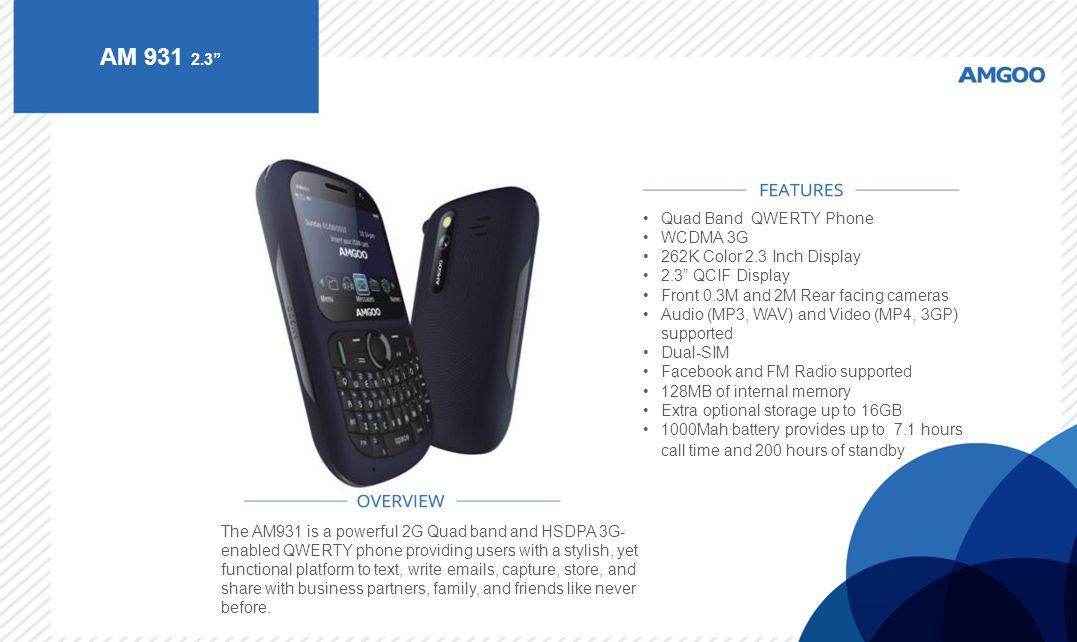 AM 931 2.3 Quad Band QWERTY Phone WCDMA 3G