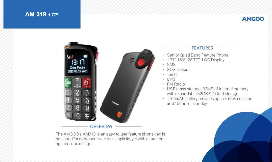 AM 318 1.77 Senior Quad Band Feature Phone