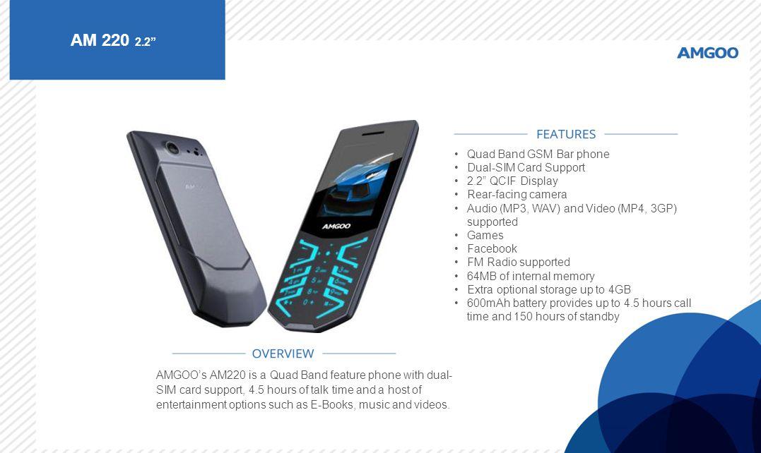 AM 220 2.2 Quad Band GSM Bar phone Dual-SIM Card Support