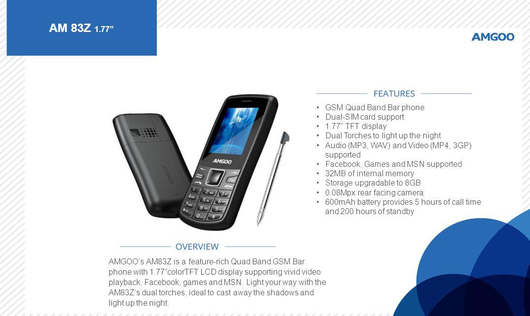 AM 83Z 1.77 GSM Quad Band Bar phone Dual-SIM card support