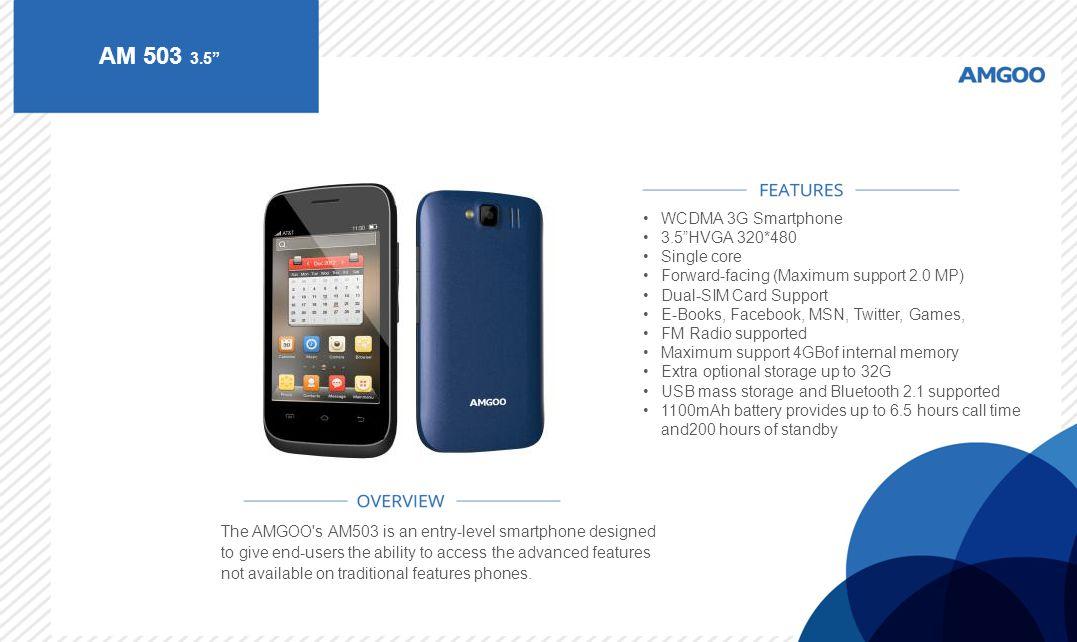 AM 503 3.5 WCDMA 3G Smartphone 3.5 HVGA 320*480 Single core
