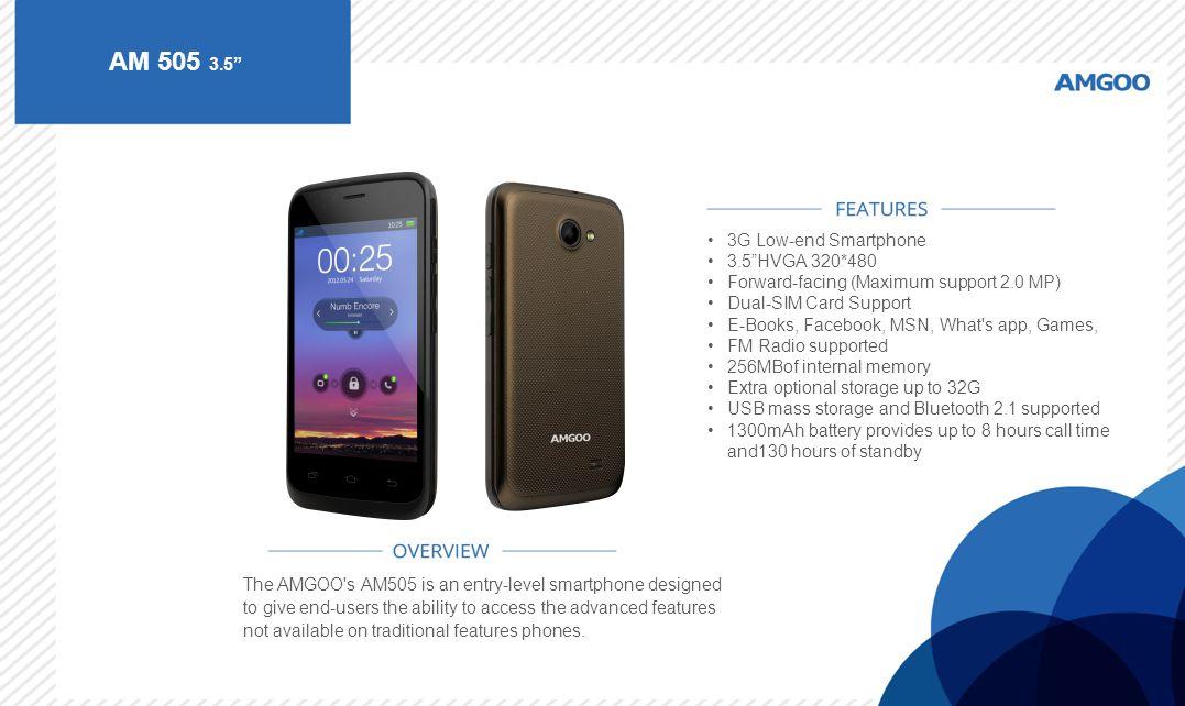 AM 505 3.5 3G Low-end Smartphone 3.5 HVGA 320*480