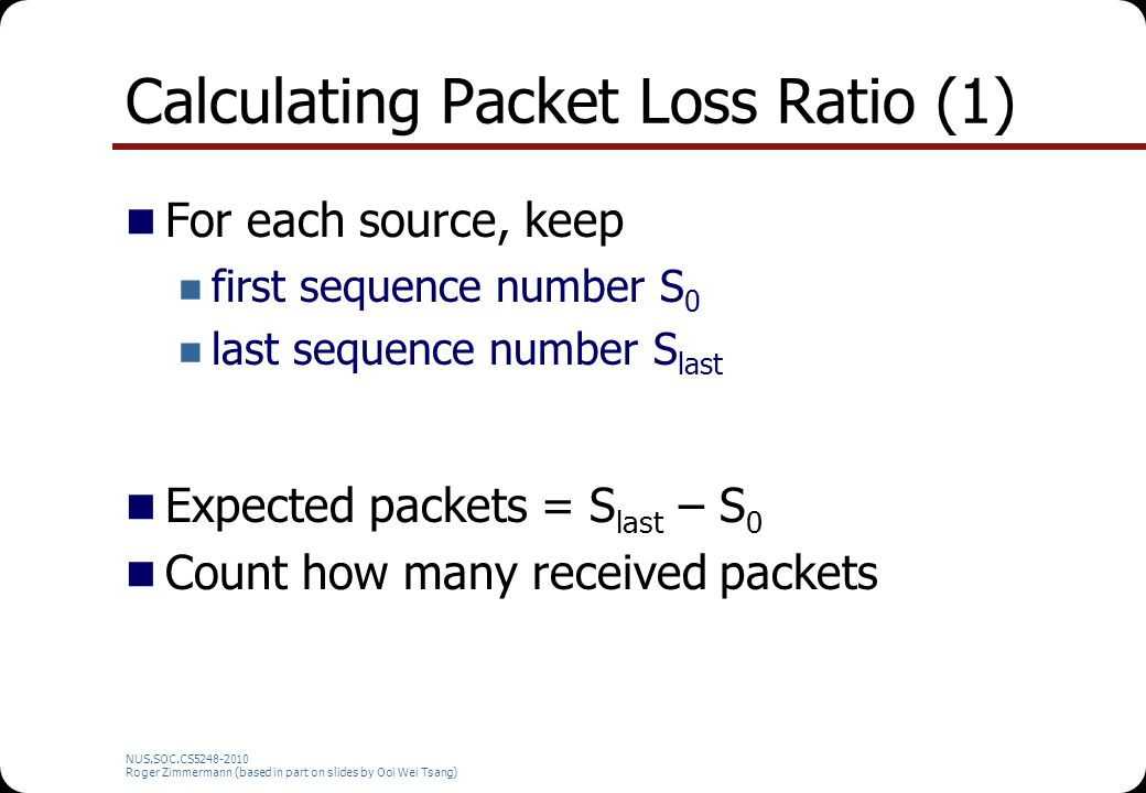 Calculating Packet Loss Ratio (1)