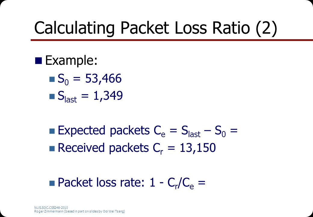 Calculating Packet Loss Ratio (2)