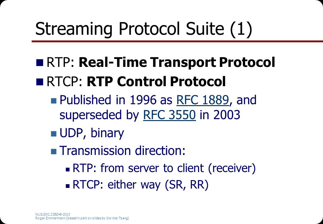 Streaming Protocol Suite (1)